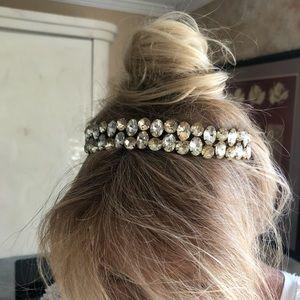 Accessories - Champagne Crystal bridal headband.